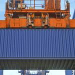 Shipping Container on Crane